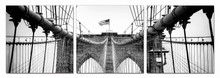 Modrest Bridge Tower 3-Panel Photo On Canvas