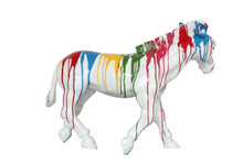 Modrest Rainbow Zebra Modern Sculpture