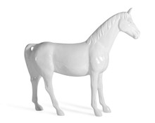 Modrest White Full Size Horse Sculpture