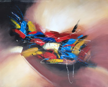 """Modrest 47"""" x 39"""" Abstract Oil Painting"""