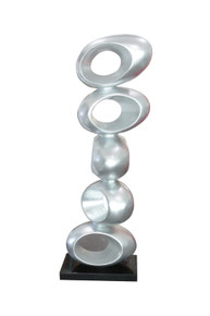 Modrest Stack Large Silver Sculpture