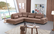 Colombo Modern Beige Fabric Living Room Sectional Sofa