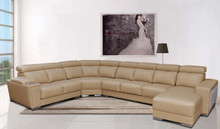 Extravaganza 8312 Modern Sectional with Sliding Seats