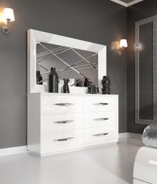 Franco Spain Carmen White Modern Double Dresser