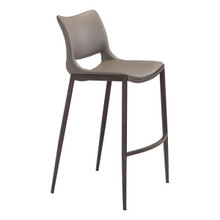 Ace Bar Chair Gray & Walnut - Set of 4