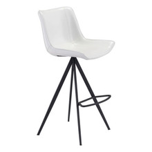 Aki Bar Chair White & Black - Set of 4