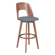 Anton Barstool Walnut & Dark Gray