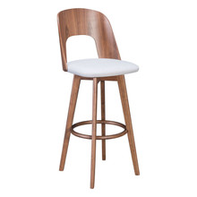 Anton Barstool Walnut & Light Gray