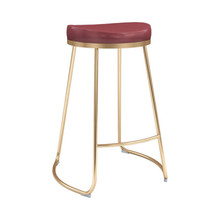 Bree Counter Stool Burgundy - Set of 4
