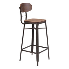Broadway Bar Chair Brown & Antique Blk