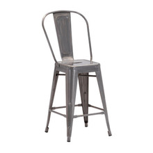 Elio Counter Chair Gunmetal