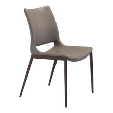 Ace Dining Chair Gray & Walnut - Set of 4