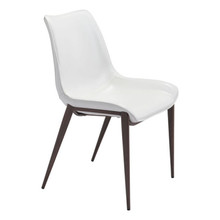 Magnus Dining Chair White & Walnut - Set of 4