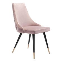 Piccolo Dining Chair Pink Velvet