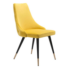 Piccolo Dining Chair Yellow Velvet
