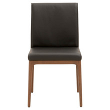 Alex Sable Top Grain Leather Walnut Dinning Chair