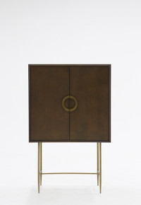 Modrest Selena Modern Acacia & Brass Chest