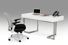 Modrest Sharp - Modern White Office Desk