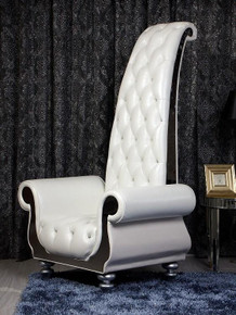 Divani Casa D6032 - Neo-Classical Italian Leather Tall Chair