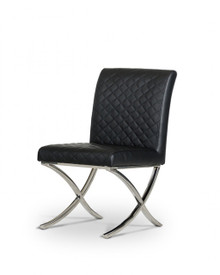 Modrest Adderley Modern Black Leatherette Dining Chair