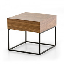 Modrest Block Modern Walnut End Table
