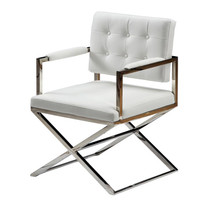Modrest B898A Modern White Leatherette Dining Chair