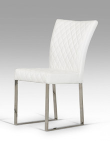 Modrest Chrysler Modern White Leatherette Dining Chair