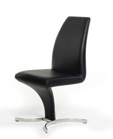 Modrest B8348 Modern Black Leatherette Dining Chair