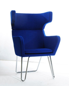 Modrest TY85 Modern Blue Fabric Lounge Chair