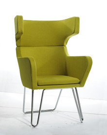 Modrest TY85 Modern Green Fabric Lounge Chair