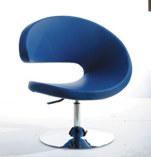 Modrest TY24 Modern Blue Leatherette Lounge Chair