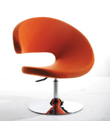 Modrest TY24 Modern Orange Fabric Lounge Chair