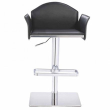 Modrest 5108 Modern Black Eco-Leather Bar Stool