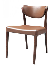 Union - Modern Brown Oak Dining Chair