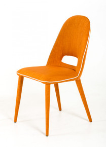 Modrest Eugene Modern Orange Fabric Dining Chair