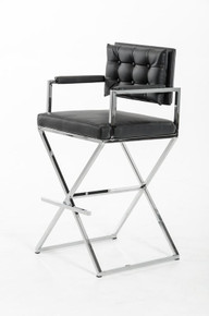 Modrest 4048B Modern Black Bar Stool