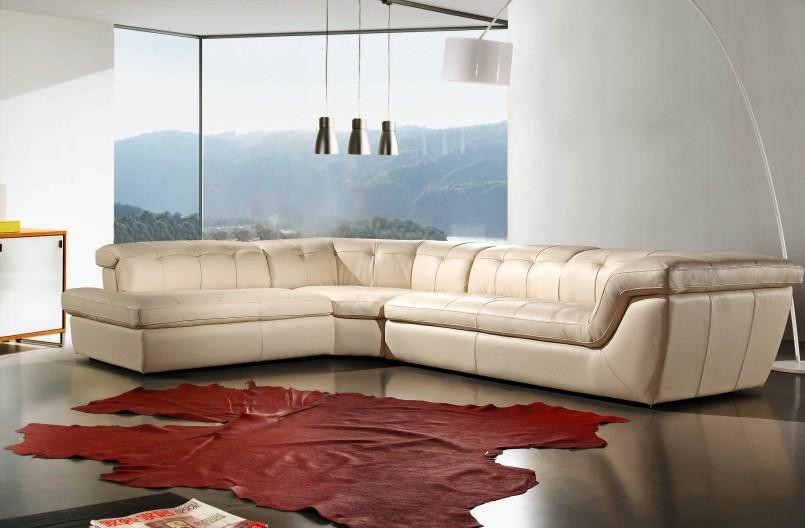 Divani Casa Refata Modern Italian Leather Sectional Sofa Stylish