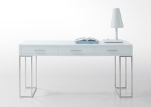 Modrest Sheldon - Modern White Lacquer Desk