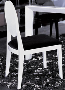 Joss - Modern White & Black Lacquer Chair
