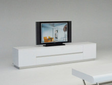 A&X Skyline Modern White Crocodile TV Entertainment Center