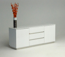 A&X Skyline White Crocodile Lacquer Buffet