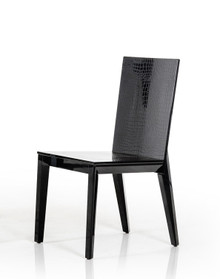 A&X Beatrix Black Crocodile Dining Chair