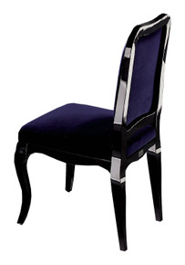 A&X Margaret Purple Velvet Side Chair