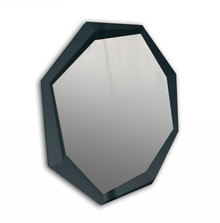 A&X Octagon - Modern Black Crocodile Lacquer Mirror