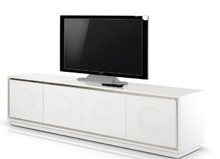 A&X Grand - Modern White Crocodile Lacquer TV Stand