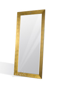 A&X Regal - Modern Crocodile Gold Lacquer Mirror