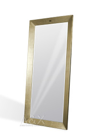 A&X Regal - Modern Crocodile Champagne Lacquer Mirror
