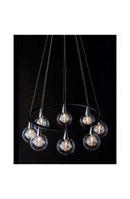 Radial Ceiling Lamp Chrome
