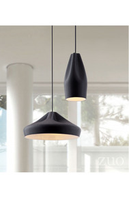 Tropical Ceiling Lamp Matte Black