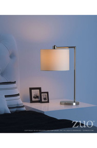 Race Table Lamp Chrome